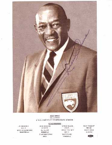JESSE OWENS Autographed Lincoln-Mercury Sports Panel Photo w/ JSA Letter