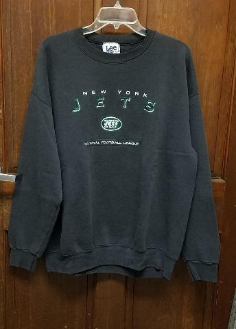 Vtg Lee Sport Charcoal Gray New York Jets Sweatshirt Men's Size XL Football