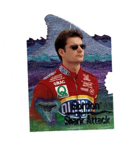 JEFF GORDON 1997 Race Sharks Shark Attack First Bite Preview Card SA2 1/499