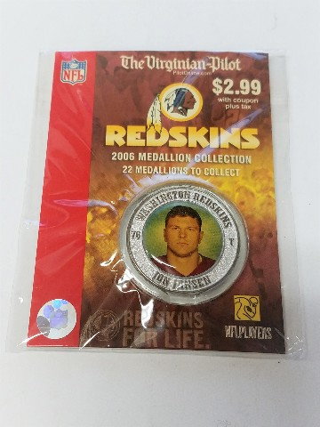 2006 JON JANSEN Washington Redskins For Life Collectible Medallion Coin