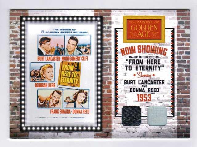 2012 Panini Golden Age Movie Posters Memorabilia #9 Donna Reed/Burt Lancaster