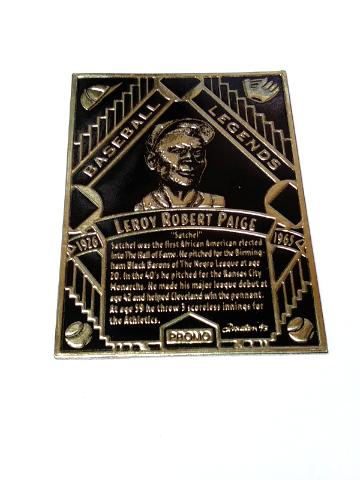 1993 Legendary Foils Promo Cards Satchel Paige Black & Lou Gehrig Green Baseball