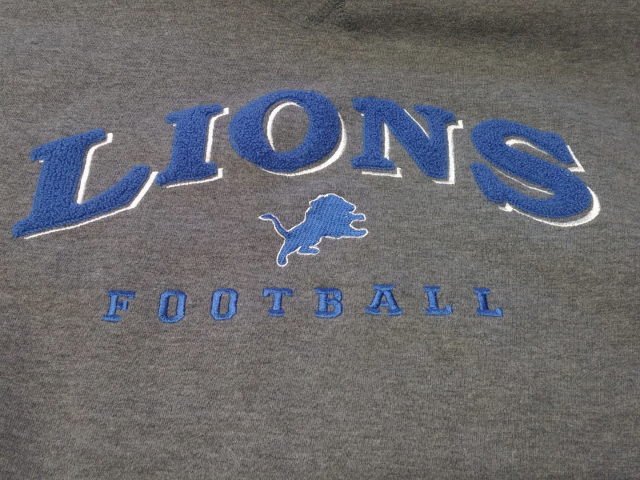 Puma Gray & Blue Detroit Lions Sweatshirt Men's Size M Football NFL