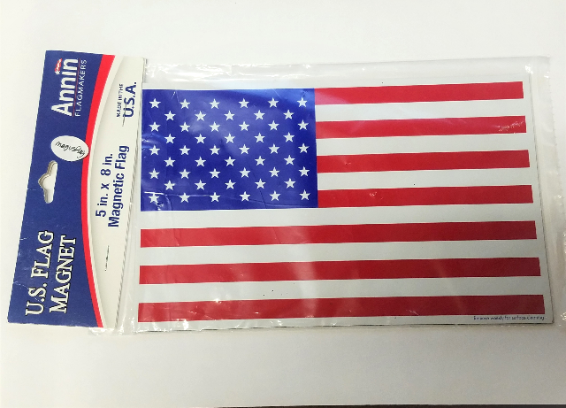 "Annin Flagmakers U.S. Flag Magnet 5"" x 8"" Made In USA"