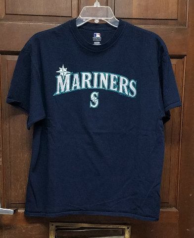 MLB Genuine Seattle Mariners Navy Blue Graphic T-Shirt Men's Size XL Baseball