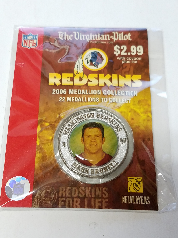 2006 MARK BRUNELL Washington Redskins For Life Collectible Medallion Coin