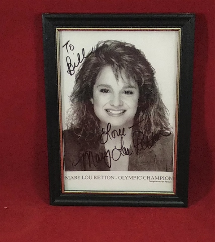Framed Mary Lou Retton Photo Autographed Signed TO BILL Olympics Champion