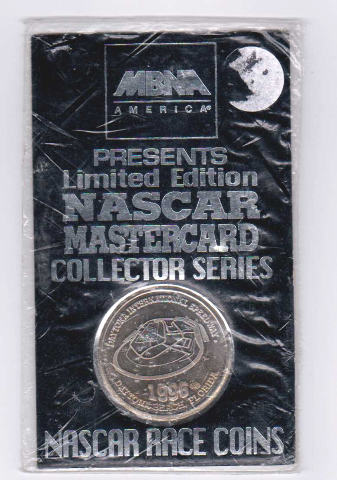 1996 MBNA NASCAR Mastercard Collector Series Race Coin Daytona Speedway NIP NEW