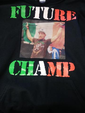 Jerzees NuBlend Conor McGregor Future Champ Black Pullover Hoodie Sz M MMA UFC