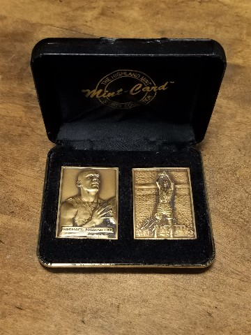1996 Highland Mint Michael Jordan 2 Upper Deck Bronze Cards Set Limited Edition