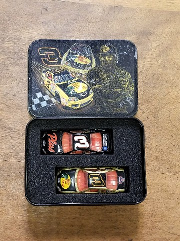 2002 Action Racing Collectables 1:64 #3 D.Earnhardt/2-Car Set In Tin Bass Pro