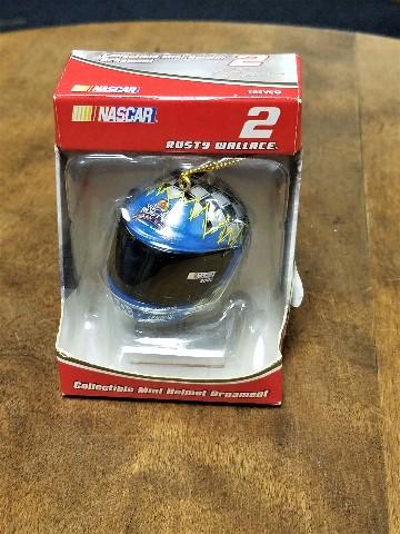 2005 Trevco #2 Rusty Wallace Mini Helmet Christmas Ornament NASCAR NOS