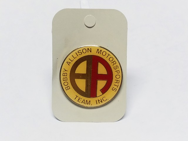 Vintage Bobby Allison Motorsports Team Inc Logo NASCAR Lapel Tack Pin NOS