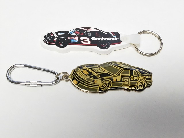 Lot Of 2 Vintage Dale Earnhardt #3 Goodwrench Car Keychains