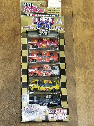 1998 Racing Champions NASCAR Fan Appreciation 1:64 5 Car Pack Set Bill Elliott