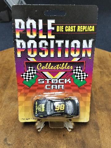 1991 Pole Position 1:64 Die-cast Replica Stock Car #98 Jimmy Spencer NASCAR NOS