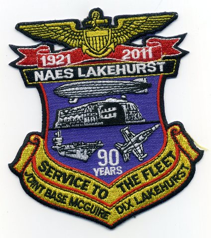 NAES Naval Air Engineering Station LAKEHURST 90 Years 1921-2011 Patch