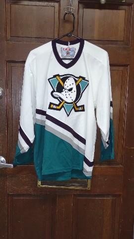 Vintage CCM Anaheim Mighty Ducks NHL Hockey Stitched Jersey - No Size