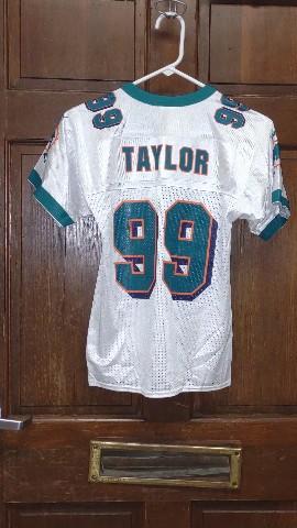 Puma White Miami Dolphins #99 Jason Taylor Jersey Size S (8) Youth Small