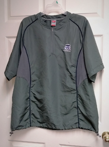 ODU Old Dominion Monarchs Pullover Short Sleeve Jacket  Sz XL NCAA
