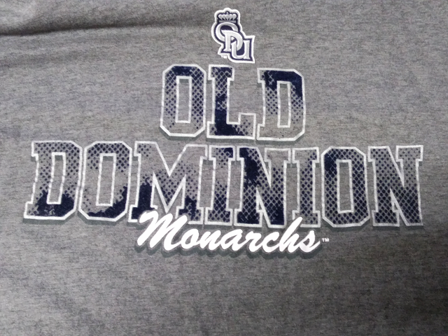 Rivalry Threads 91 ODU Old Dominion Monarchs Gray T-Shirt Size L 42-44 NCAA