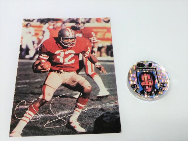 OJ Simpson Where's The Juice Slammer Pog & 1983 Special Edition Souvenir Card