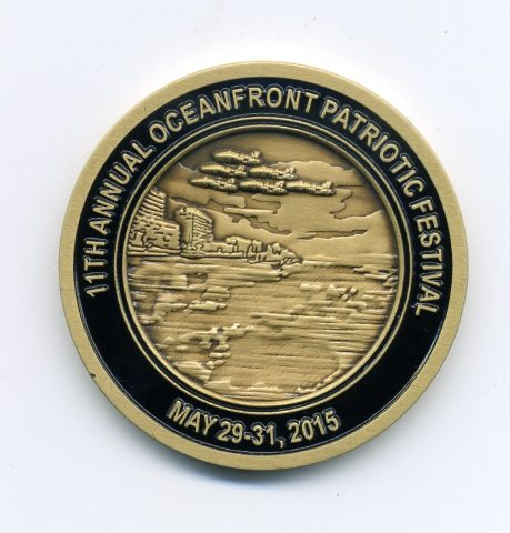 11th Annual Oceanfront Patriotic Festival May 2015 Virginia Beach Challenge Coin
