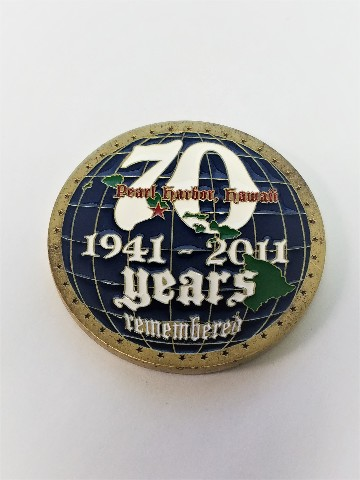 """Pearl Harbor 70th Anniversary 1941-2011 Remembrance Challenge Coin 2"""""""