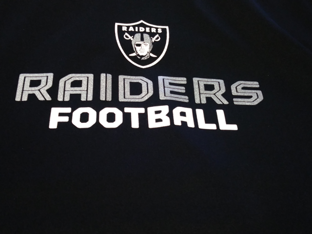 Reebok RBK Play Dry Black & Gray Oakland Raiders Shirt Mens Size XL NFL Football