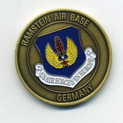 """US Air Force USAF Ramstein Air Base Germany Challenge Coin 1.75"""""""
