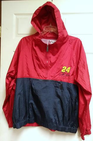 Chase Authentics NASCAR Jeff Gordon 24 Red Blue Nylon Pullover Jacket Size XL