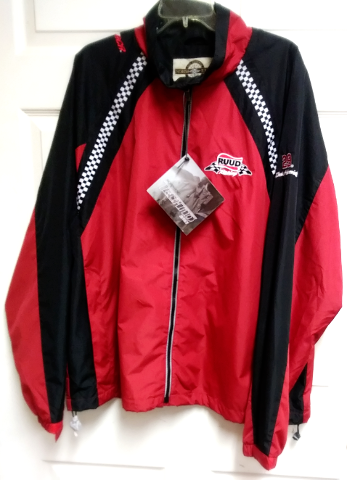 Ruud Racing Kevin Harvick 29 Red Black Full Zip Jacket Size XL NASCAR North End