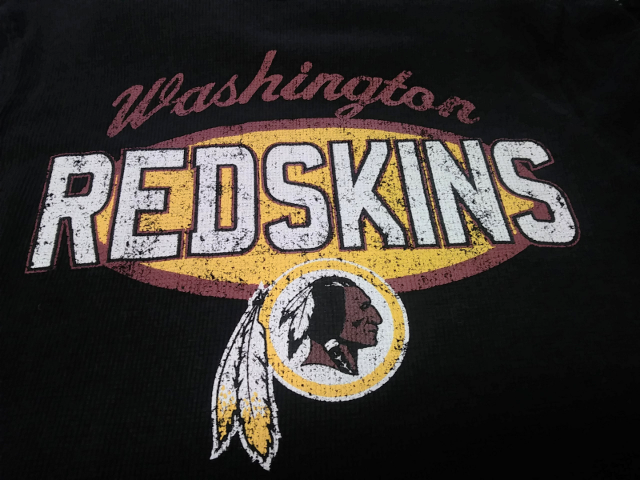 NFL Team Apparel Washington Redskins Black Waffle L/S Shirt Size L  (10-12)
