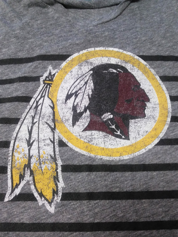 NFL Juniors Collection Washington Redskins Gray w/ Black Stripes Shirt Size S