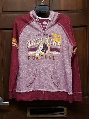Majestic Fan Fashion Washington Redskins Womens Full Zip Up Hoodie Jacket Size L