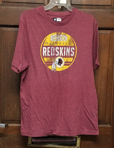 NFL Team Apparel Washington Redskins Heathered Red Graphic T-Shirt Men's Size L