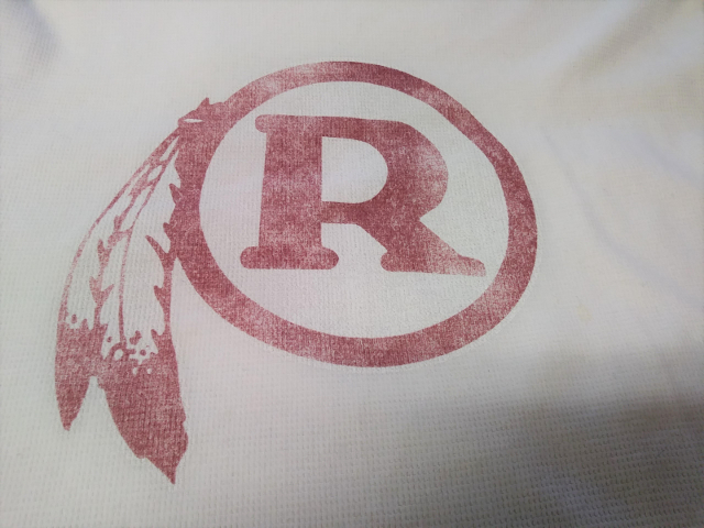 Reebok Retro Sport Washington Redskins White L/S Waffle Shirt Sz S Football NFL