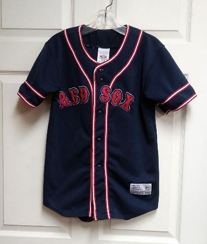 True Fan BOSTON RED SOX Jersey Navy Blue Youth Size M (8-10) MLB