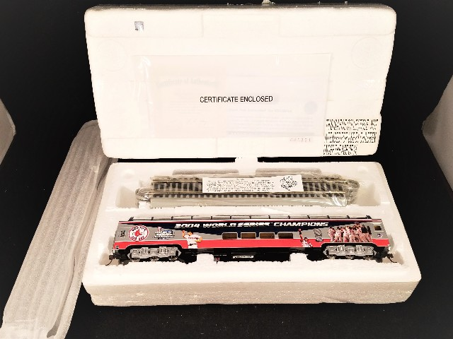 Hawthorne Village Boston Red Sox 2004 World Series Champions Model Train Engine