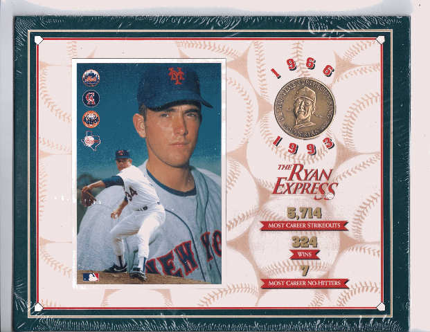 1993 Nolan Ryan THE RYAN EXPRESS Commemorative Coin & Photo Set NEW Sealed