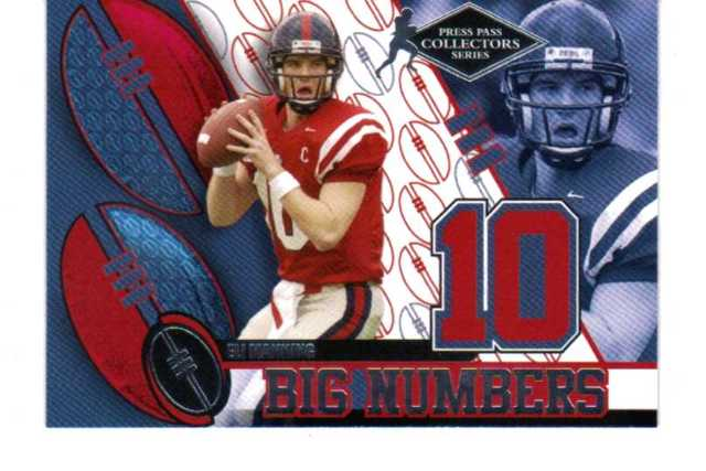 2004 Press Pass Big Numbers Collectors Series Set Eli Manning Roethlisberger