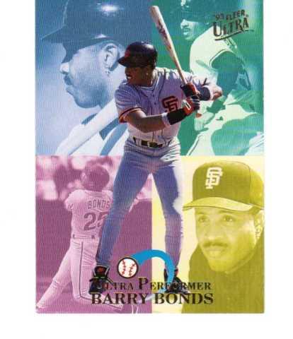 1993 Fleer Ultra Performers Complete 10 Card Set /150000 MLB Barry Bonds Frank Thomas