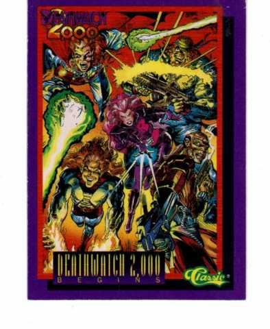 1993 Deathwatch 2000 Complete 100 Card Set Comic Book Superheroes Classic