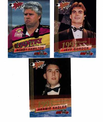 1994 Wheels High Gear Rookie Thunder Update 3 Cards Jeff Gordon Hamilton Sadler