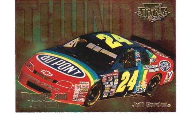 1996 Fleer Ultra Thunder And Lightning 10 Card Set NASCAR Gordon Earnhardt