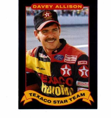 1992 Maxx Texaco Davey Allison Complete 20 Card Set NASCAR Racing