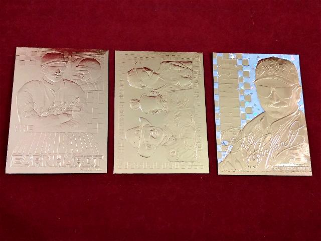 3 Dale Earnhardt 23K Gold Cards Classic Bleachers 1995 1996 1999 NASCAR