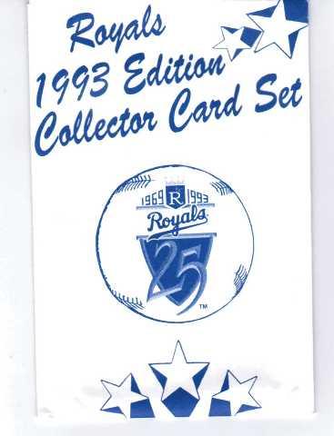Kansas City Royals 1993 Edition Collector Card Set 25 Cards MLB Baseball NIOP