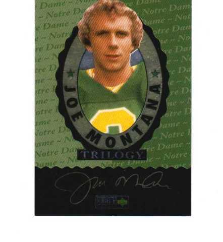 1995 Upper Deck Collector's Choice JOE MONTANA Trilogy Set NFL Football