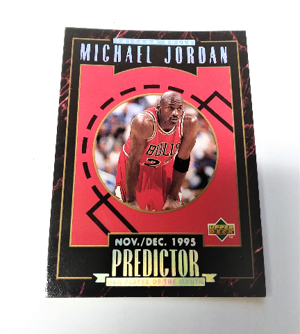 1995-96 Upper Deck Predictor Player Of The Month Redemption Set Michael Jordan